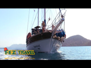 Gulet Sailing (2) - Turkish Mediterranean video [2.0 Kb 0:30 mins]