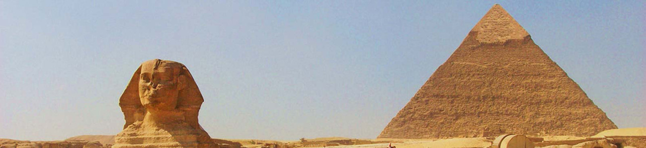 Cairo - Sphinx and Great Pyramid of Khufu