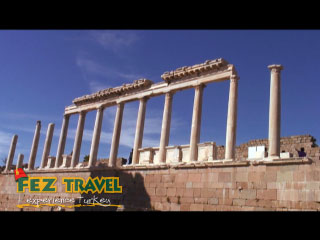 View our Kylie visits the ancient ruins of Pergamum (3rd to 2nd Century BC). The Ancient rulers believed mainly in the Arts and Sciences. [0:30]