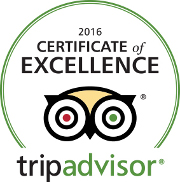 Trip Advisor Excellence 2016 rating
