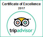 Trip Advisor Excellence 2017 rating